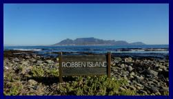 View of Table Mountain from Rober island